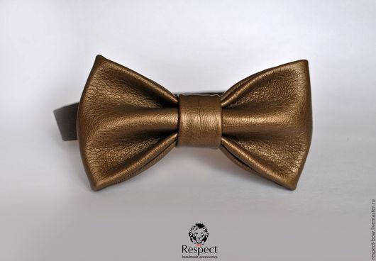 Галстуки, бабочки ручной работы. Ярмарка Мастеров - ручная работа. Купить Галстук бабочка Van Halen / бронзовая кожаная бабочка галстук. Handmade.