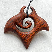 Украшения handmade. Livemaster - original item Pendant-Amulet made of wood