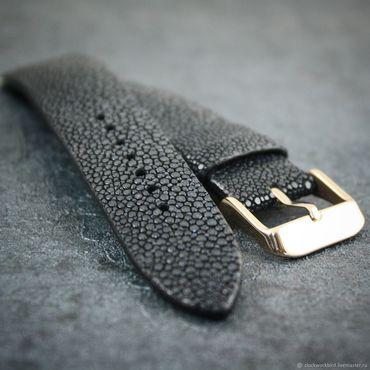 Украшения ручной работы. Ярмарка Мастеров - ручная работа Ремешок для часов из кожи ската luxury watch strap. Handmade.