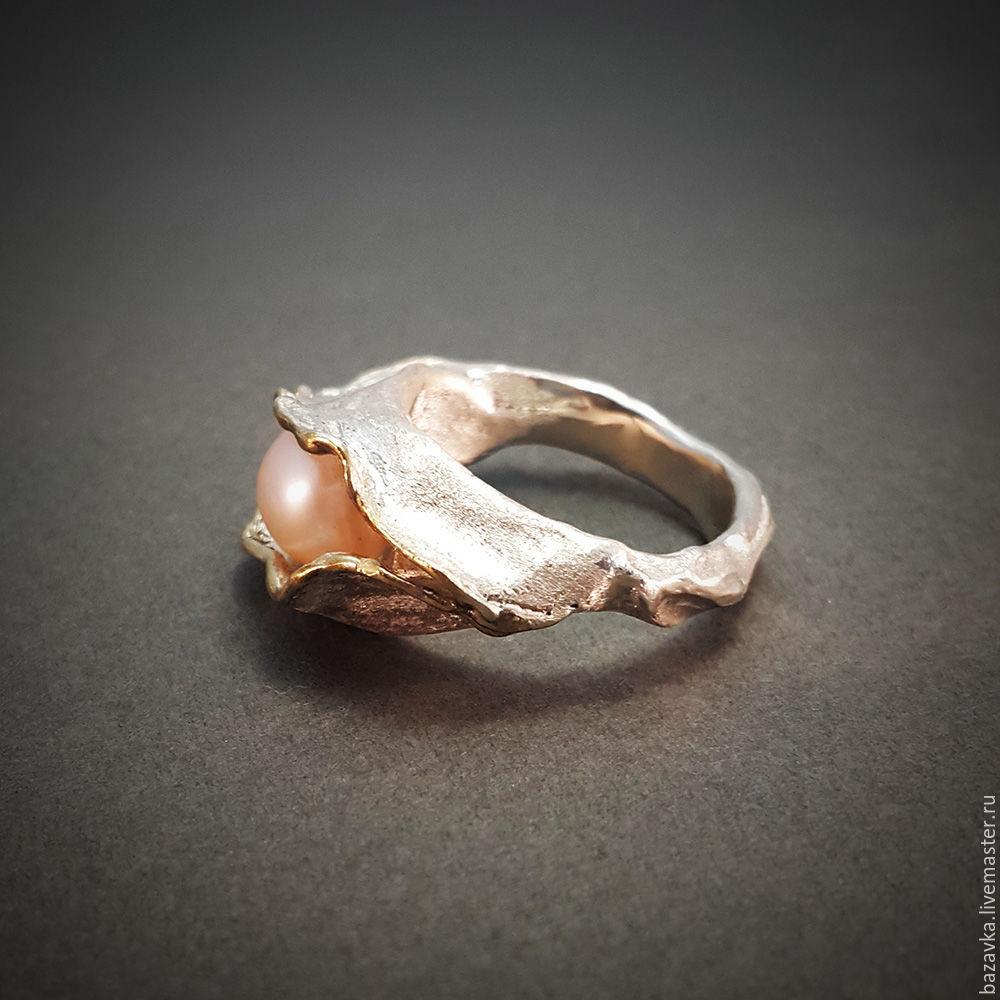 Купить Серебряное кольцо с жемчугом