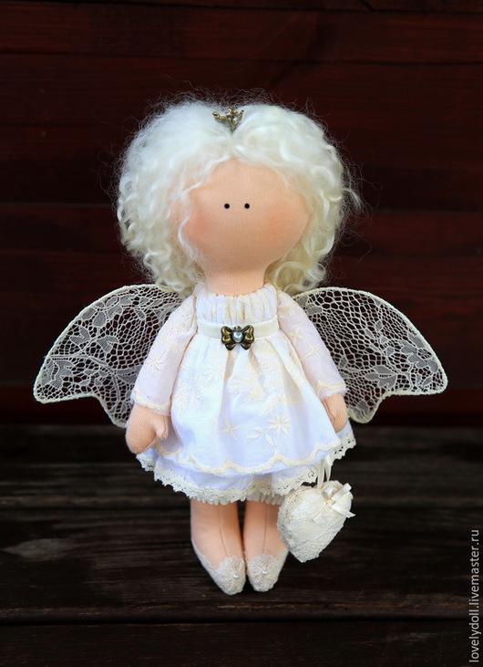 Коллекционные куклы ручной работы. Ярмарка Мастеров - ручная работа. Купить Ангел-хранитель. Handmade. Белый, подарок, кукла в подарок