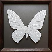 Картины и панно handmade. Livemaster - original item butterfly white. Handmade.