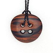 Украшения handmade. Livemaster - original item Pendant of fiery ebony.. Handmade.