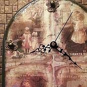 """Для дома и интерьера ручной работы. Ярмарка Мастеров - ручная работа Настенные часы """"Винтажное детство"""". Handmade."""