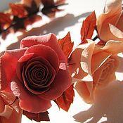 """Украшения ручной работы. Ярмарка Мастеров - ручная работа Веночек """"Персик в шоколаде"""". Handmade."""