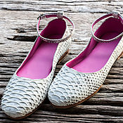 Обувь ручной работы handmade. Livemaster - original item Ballet shoes made of genuine Python leather. Big size on the foot 28-28. 5 cm. Handmade.
