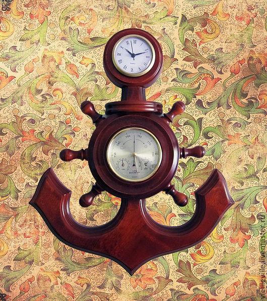 Часы для дома ручной работы. Ярмарка Мастеров - ручная работа. Купить Метеостанция-часы настенные. Handmade. Барометр, гигрометр