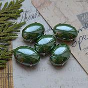 Материалы для творчества handmade. Livemaster - original item Pearl rhinestones Greens 13h18 mm oval. Handmade.