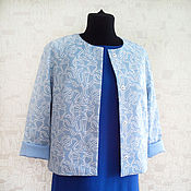 """Одежда ручной работы. Ярмарка Мастеров - ручная работа Жакет голубой  """"Круиз"""". Handmade."""