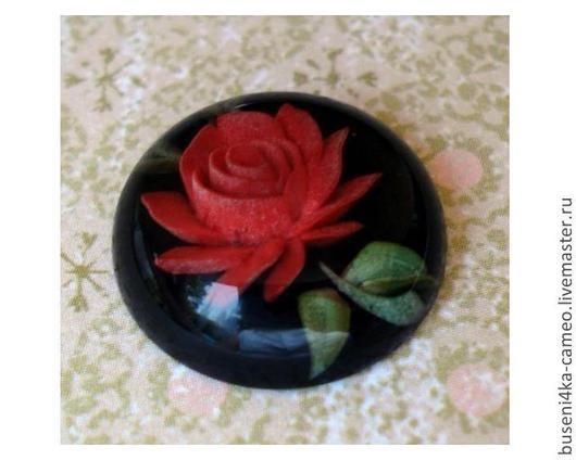 Для украшений ручной работы. Ярмарка Мастеров - ручная работа. Купить Инталия Волшебная Роза 18мм (пластик) 1шт.. Handmade.