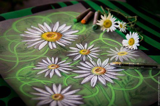 """Картины цветов ручной работы. Ярмарка Мастеров - ручная работа. Купить Картина пастелью """"Ромашки"""". Handmade. Комбинированный, ромашковое поле"""