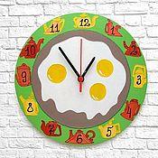 Для дома и интерьера handmade. Livemaster - original item Wall clock fried Eggs, kitchen clock. Handmade.