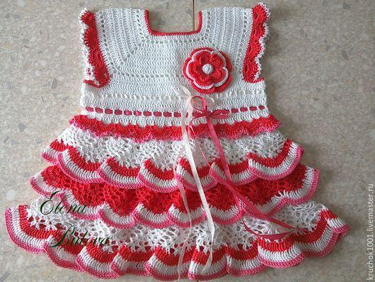 """Одежда для девочек, ручной работы. Ярмарка Мастеров - ручная работа. Купить Платье """"Аленький цветочек"""". Handmade. Платье, платье вязаное"""