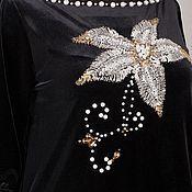 Платья ручной работы. Ярмарка Мастеров - ручная работа Платье из бархата Королевская лилия. Handmade.
