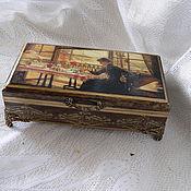 Для дома и интерьера ручной работы. Ярмарка Мастеров - ручная работа Шкатулка За завтраком. Handmade.