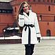 """Верхняя одежда ручной работы. Ярмарка Мастеров - ручная работа. Купить шубка """"New mink"""". Handmade. Белый, искусственнаяшуба, зима"""