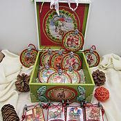 Сувениры и подарки handmade. Livemaster - original item Christmas decorations: Set of Christmas toys Gnomes. Handmade.
