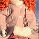 Коллекционные куклы ручной работы. Рыжая девчонка с муфточкой. Вера Шипкова. Ярмарка Мастеров. Авторская кукла, мех