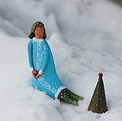 """Для дома и интерьера ручной работы. Ярмарка Мастеров - ручная работа Скульптура """"Новый год для Русалочки"""". Handmade."""
