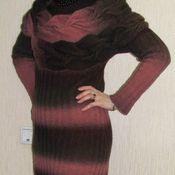 """Одежда ручной работы. Ярмарка Мастеров - ручная работа Вязаное платье """"Гранат"""". Handmade."""