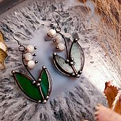 Украшения handmade. Livemaster - original item Lily of the Valley Earrings (e-027). Handmade.