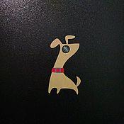 Для дома и интерьера ручной работы. Ярмарка Мастеров - ручная работа Накладка на дверной глазок Собачка. Handmade.