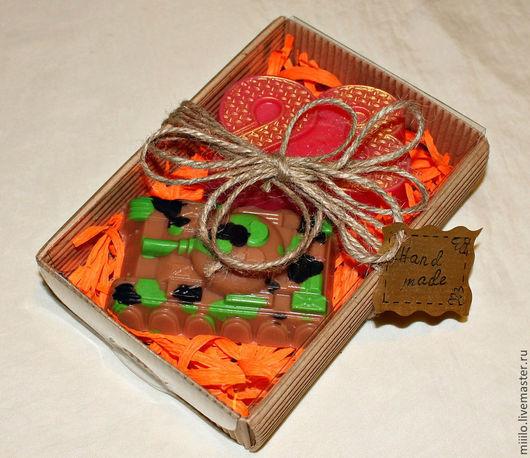 Мыло ручной работы. Ярмарка Мастеров - ручная работа. Купить Подарочный набор на 23 февраля №2. Handmade. мыло для детей
