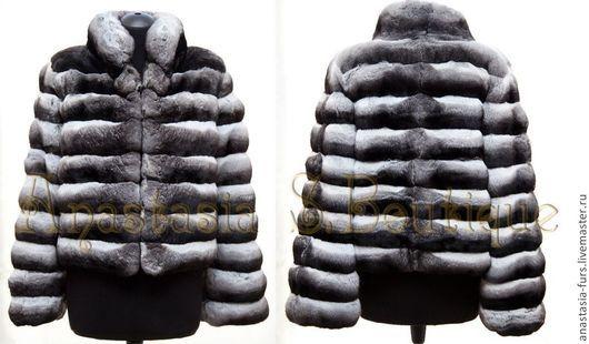 Верхняя одежда ручной работы. Ярмарка Мастеров - ручная работа. Купить Шуба из шиншиллы. Handmade. Чёрно-белый, шиншилла, шуба