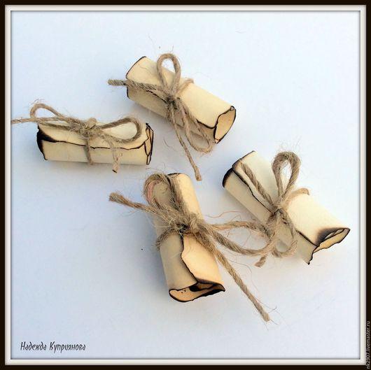 Свадебные аксессуары ручной работы. Ярмарка Мастеров - ручная работа. Купить Свиточки для гостей с благодарностью. Handmade. Бежевый, рассадка