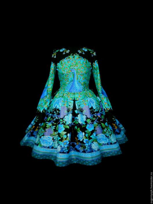 """Платья ручной работы. Ярмарка Мастеров - ручная работа. Купить Платье """"Синяя птица"""". Handmade. Комбинированный, авторское платье"""