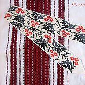 Украшения ручной работы. Ярмарка Мастеров - ручная работа Пояс из бисера плетеный Калина красная... Бисерный поясок. Handmade.