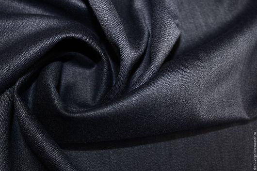 Шитье ручной работы. Ярмарка Мастеров - ручная работа. Купить Костюмная шерсть,цвет темно-синий под джинс. Handmade.
