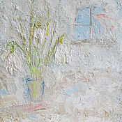 """Картины и панно ручной работы. Ярмарка Мастеров - ручная работа Картина маслом """"Опять весна"""". Handmade."""