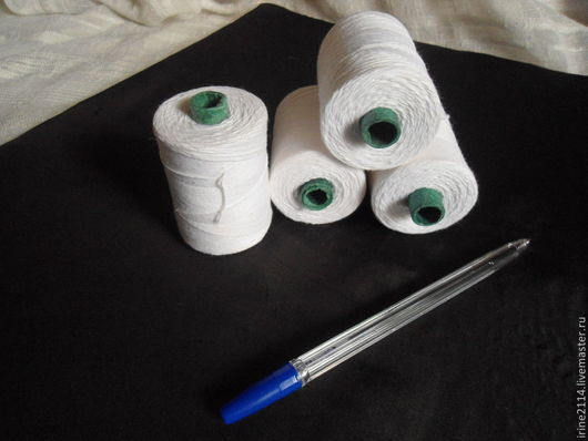 Шитье ручной работы. Ярмарка Мастеров - ручная работа. Купить Нитки 1. Handmade. Белый, нитки хлопок, нить