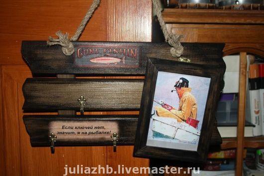 Entrance Hall handmade. Livemaster - handmade. Buy '3 in 1' (key-hanger-photo frame).Gift for men