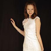 """Одежда ручной работы. Ярмарка Мастеров - ручная работа Валяное платье """"Нежно-снежное"""". Handmade."""