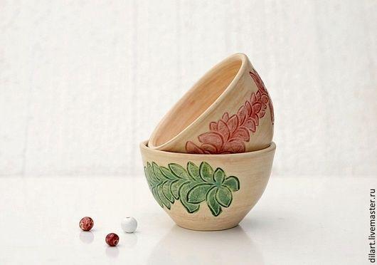 Пиалы ручной работы. Ярмарка Мастеров - ручная работа. Купить Две керамические пиалы Шелковые. Handmade. Посуда ручной работы