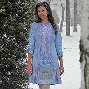 Одежда handmade. Livemaster - original item Felted dress Girl Winter. Handmade.