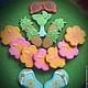 """Кулинарные сувениры ручной работы. Ярмарка Мастеров - ручная работа. Купить """"Hawaii party"""" пряники - козули. Handmade. Желтый, ВЕЧЕРИНКА"""