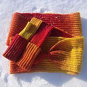 Аксессуары handmade. Livemaster - original item Kit Snood mitts Flame. Handmade.