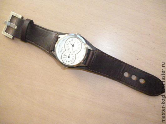 """Пояса, ремни ручной работы. Ярмарка Мастеров - ручная работа. Купить Ремешок """"для мужских часов"""". Handmade. Коричневый"""