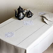Tablecloths handmade. Livemaster - original item Tablecloth 3 Kuban flax 100%( napkins optional). Handmade.