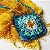 Работы для детей, ручной работы. Ярмарка Мастеров - ручная работа Сумочка-кармашек из бабушкиных квадратов. Handmade.