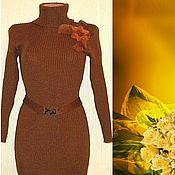 Одежда ручной работы. Ярмарка Мастеров - ручная работа Платье вязаное Лапша. Handmade.