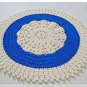 Для дома и интерьера handmade. Livemaster - original item Handmade carpet knotted cord snowflake small. Handmade.