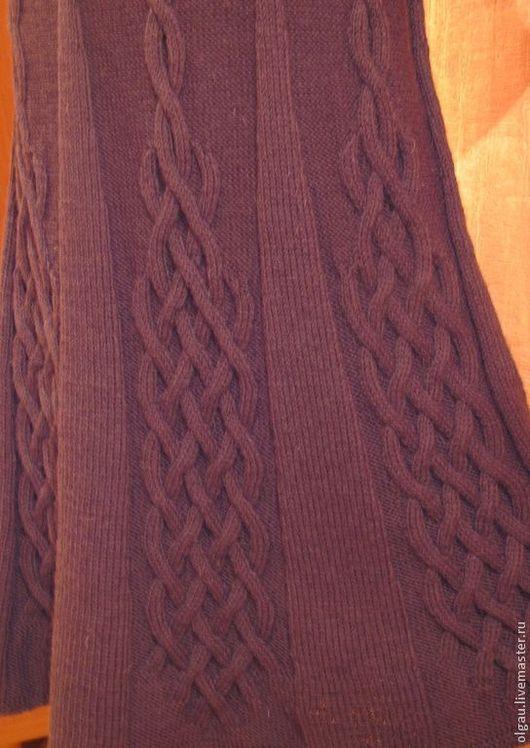 Юбки ручной работы. Ярмарка Мастеров - ручная работа. Купить Вязаная юбка. Handmade. Коричневый, переплетения