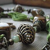 Комплекты украшений ручной работы. Ярмарка Мастеров - ручная работа Колье и серьги  Терпкий чай. Handmade.