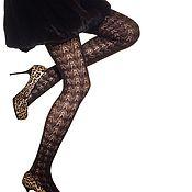 Винтаж handmade. Livemaster - original item Elegant fishnet tights made of wool. Different colors. Handmade.