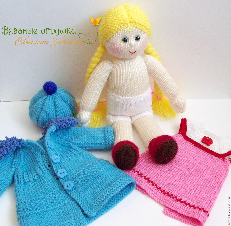 Мк вязание куклы спицами 837