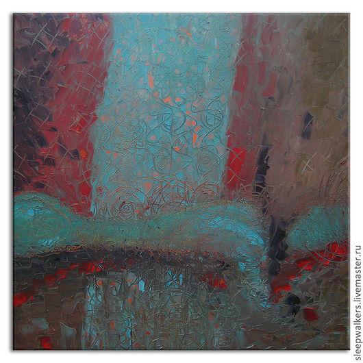 """Ню ручной работы. Ярмарка Мастеров - ручная работа. Купить """"Утренний сон"""" 90х90 см большая абстрактная картина маслом мастихином. Handmade."""